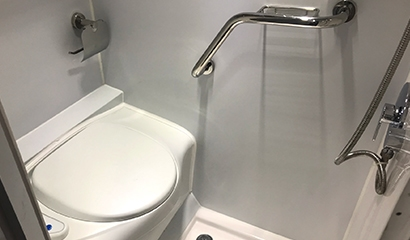 Complete bathroom included