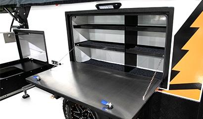External pantry shelving