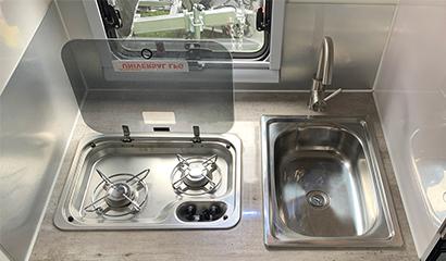Interior Cooking Facilities & sink