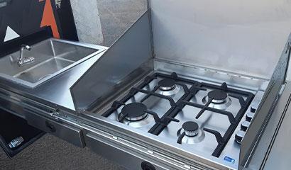 Full size 4 burner cooker